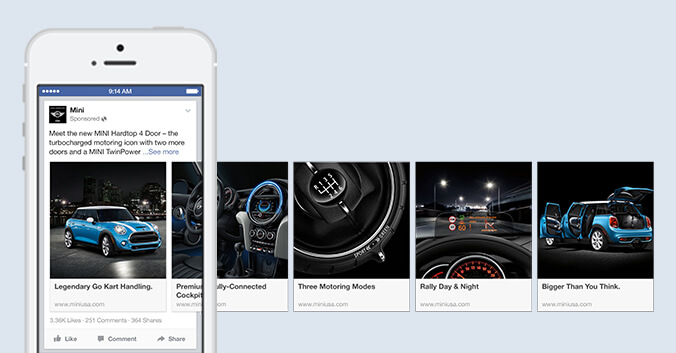 דוגמה לקמפיין פרסום קרוסלה בפייסבוק