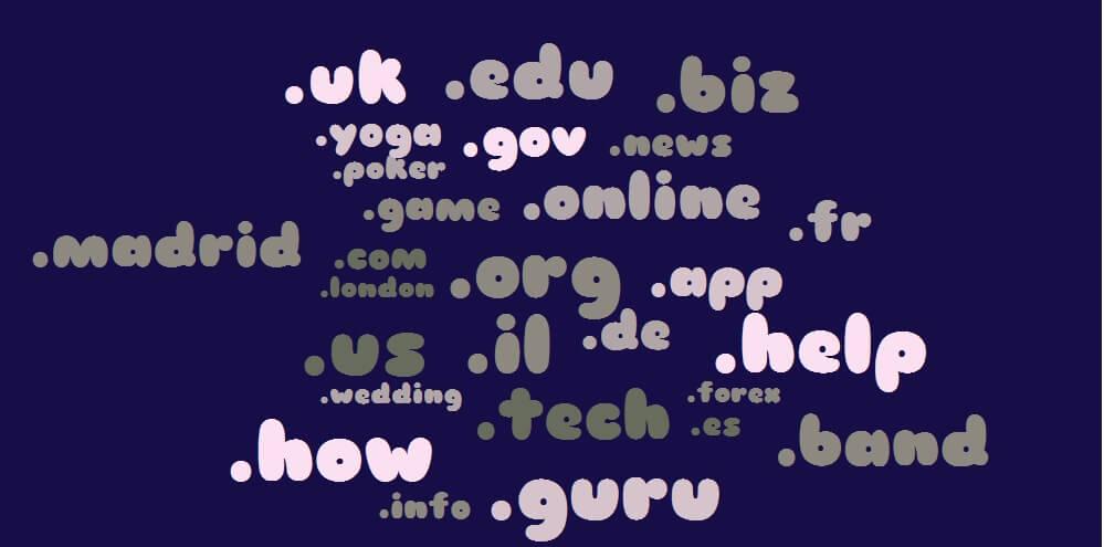 גוגל ו-top level domains