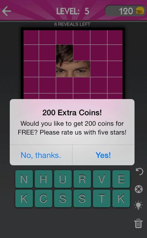 קידום אפליקציה - rate our app