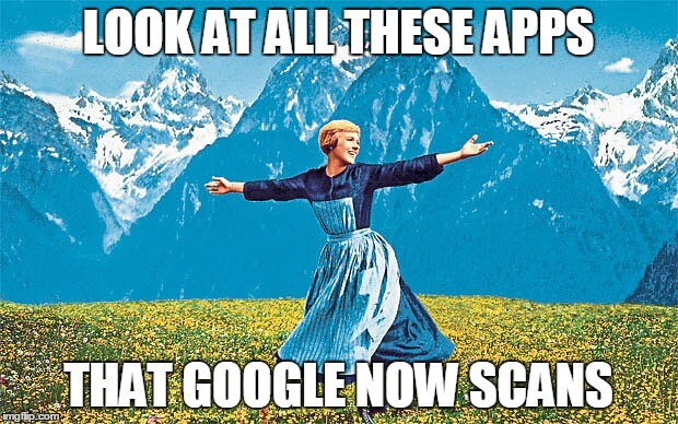 סריקת אפליקציות בגוגל - meme