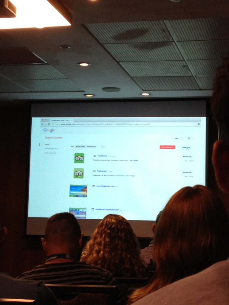 smx israel - google search console - brand account