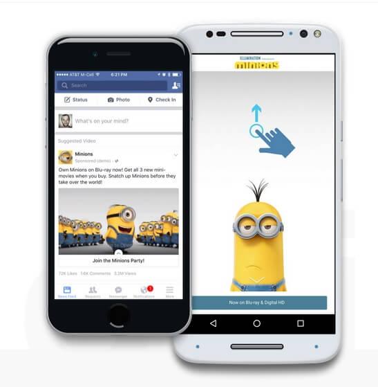 canvas ad facebook - example