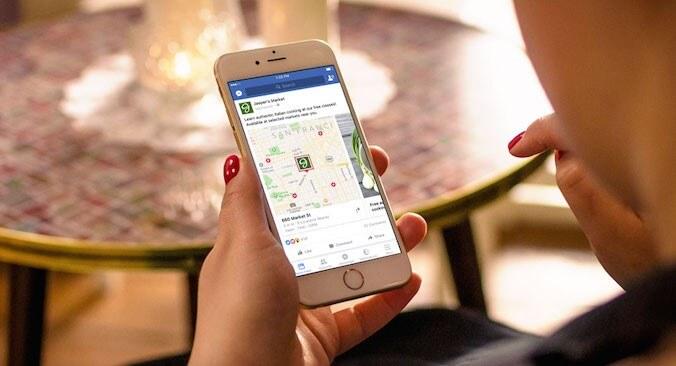 מפות במודעות פרסום בפייסבוק