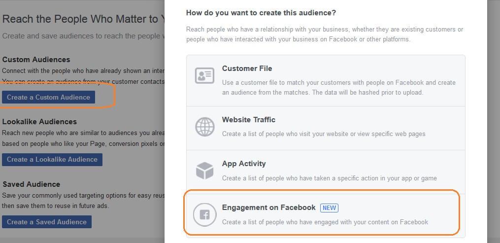 טרגוט לפי מעורבות בדף פייסבוק