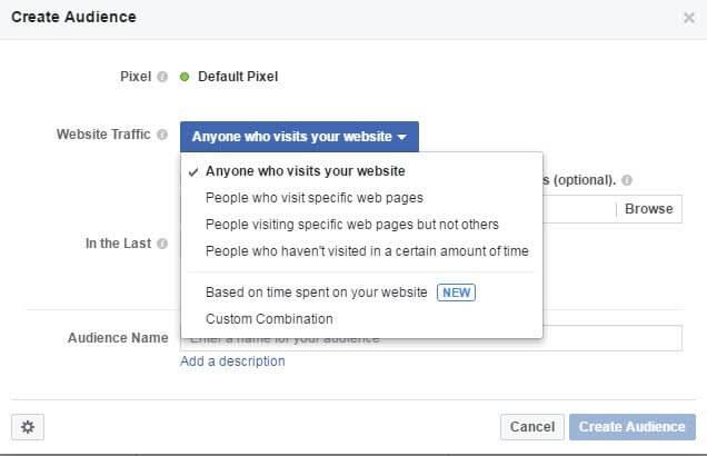 רימרקטינג בפייסבוק - יצירת קהלים על בסיס תנועה באתר