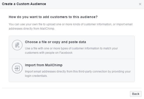 יצירת קהל רימרקטינג בפייסבוק על בסיס מיילים וטלפונים