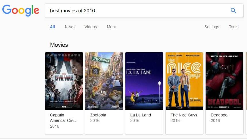 חיפוש בגוגל 2017