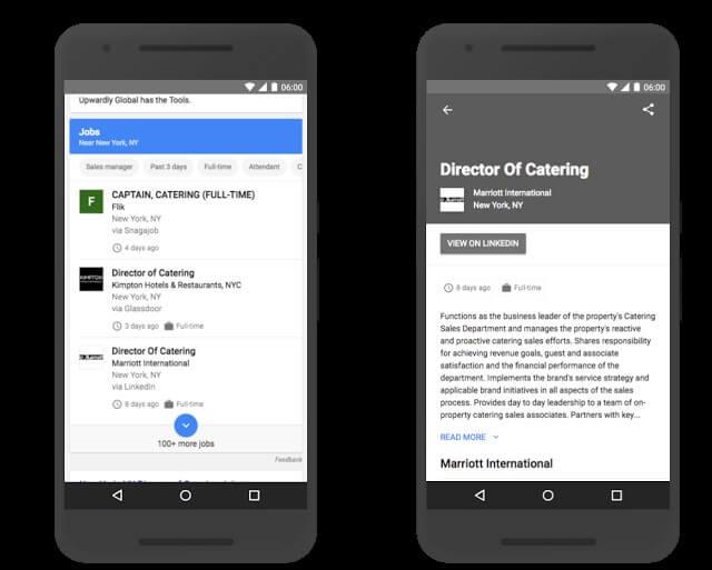 חיפוש עבודה דרך גוגל