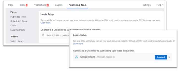 חיבור Google sheets לפייסבוק