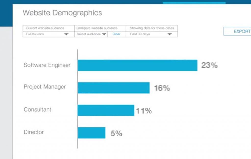 Website Demographics בלינקדאין