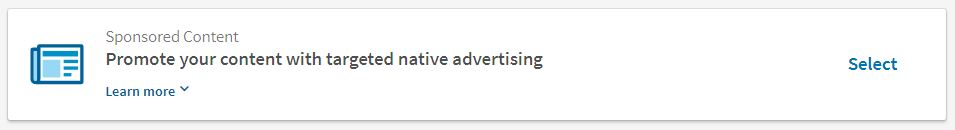 קמפיין פרסום תוכן בלינקדאין