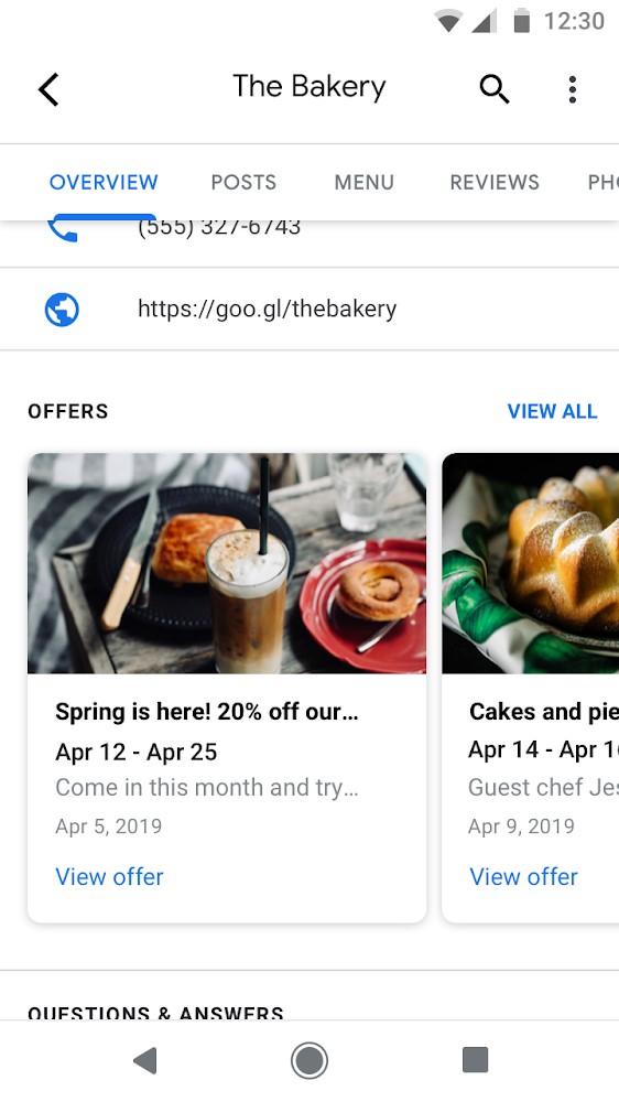 גוגל מיי ביזנס - הצעות