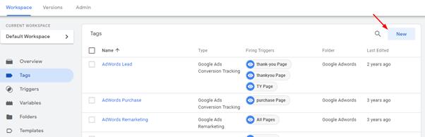 גוגל תג מנג'ר - התקנת אנליטיקס